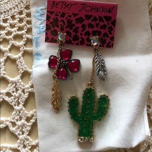 Betsey Johnson cactus earrings